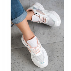 SHELOVET Stylish Sneakers With Eco Leather white multicolored 3
