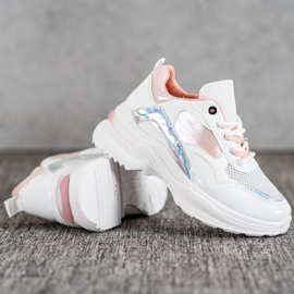 SHELOVET Stylish Sneakers With Eco Leather white multicolored 1