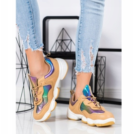 Kylie Stylish Sport Shoes beige multicolored 1