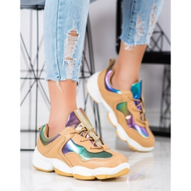 Kylie Stylish Sport Shoes beige multicolored 4