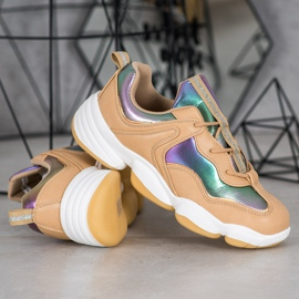 Kylie Stylish Sport Shoes beige multicolored 3