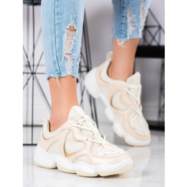 Kylie Stylish Beige Sneakers 2