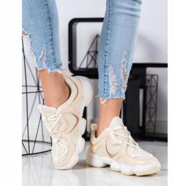 Kylie Stylish Beige Sneakers 4