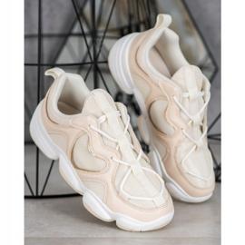 Kylie Stylish Beige Sneakers 1