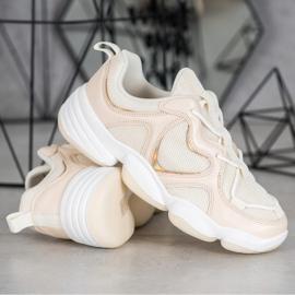 Kylie Stylish Beige Sneakers 3