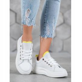 SHELOVET Fashionable Sneakers On The Platform white 1