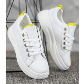 SHELOVET Fashionable Sneakers On The Platform white 2