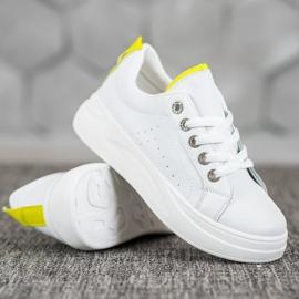SHELOVET Fashionable Sneakers On The Platform white 3