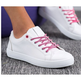 SHELOVET Sneakers With Decorative Laces white 1