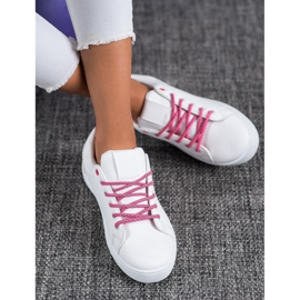 SHELOVET Sneakers With Decorative Laces white 2