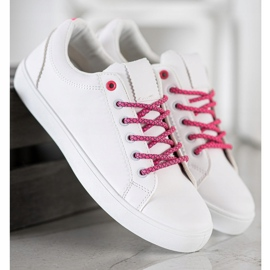 SHELOVET Sneakers With Decorative Laces white 3