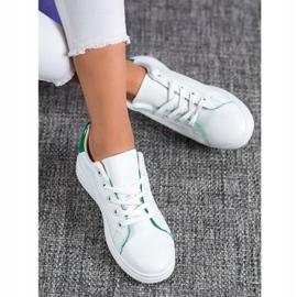 SHELOVET Classic Sport Shoes white green 2