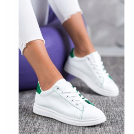 SHELOVET Classic Sport Shoes white green 1