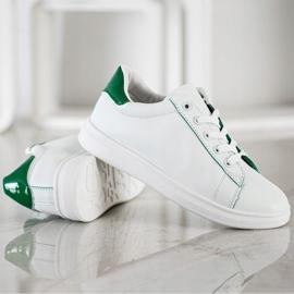 SHELOVET Classic Sport Shoes white green 3