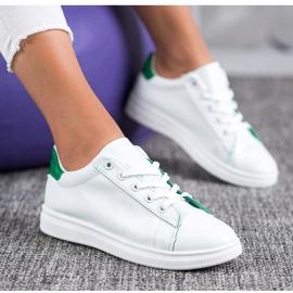 SHELOVET Classic Sport Shoes white green 4