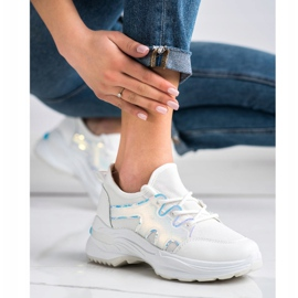 SHELOVET Spring Sneakers With Holo Effect white 5