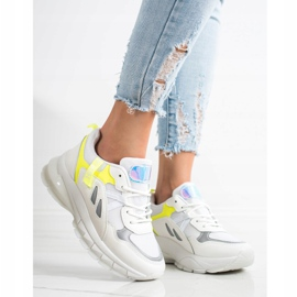 SHELOVET Sneakers On The Platform With Mesh white multicolored 2