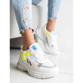 SHELOVET Sneakers On The Platform With Mesh white multicolored 1