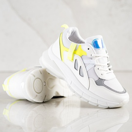 SHELOVET Sneakers On The Platform With Mesh white multicolored 3