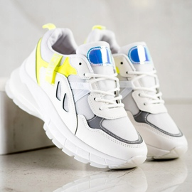 SHELOVET Sneakers On The Platform With Mesh white multicolored 4
