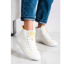 Ideal Shoes High Fashion Sports Shoes Sneakers white 2