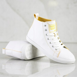 Ideal Shoes High Fashion Sports Shoes Sneakers white 1