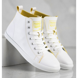 Ideal Shoes High Fashion Sports Shoes Sneakers white 4