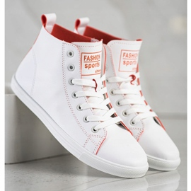 Ideal Shoes High Fashion Sports Shoes Sneakers white 3