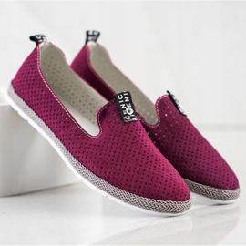 Filippo Casual Leather Slipons red 1