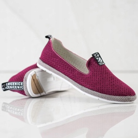 Filippo Casual Leather Slipons red 4