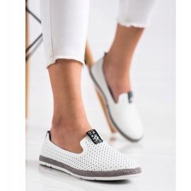 Filippo Casual Leather Slipons white 3