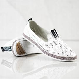 Filippo Casual Leather Slipons white 1