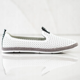Filippo Casual Leather Slipons white 2