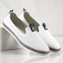 Filippo Casual Leather Slipons white 5