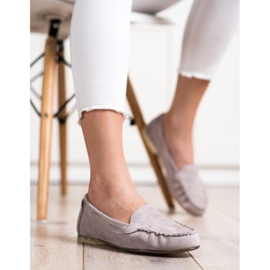 Gray loafers by Sergio Leone beige 4