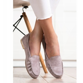 Gray loafers by Sergio Leone beige 5