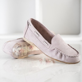 Gray loafers by Sergio Leone beige 1