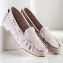 Gray loafers by Sergio Leone beige 2