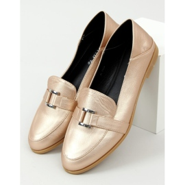 Gold women's loafers 4585 Gold golden 1