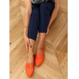 Orange women's loafers 4585 Orange 2