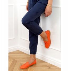 Orange women's loafers 4585 Orange 3