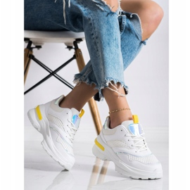 SHELOVET Sneakers On The Platform With Mesh white 2