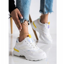 SHELOVET Sneakers On The Platform With Mesh white 1