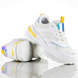 SHELOVET Sneakers On The Platform With Mesh white 3