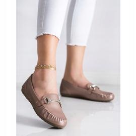 Queentina Elegant Loafers With Cubic Zirconia beige 3
