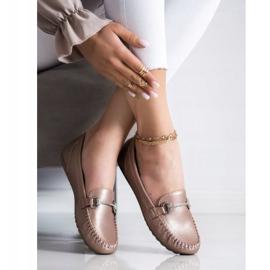Queentina Elegant Loafers With Cubic Zirconia beige 2