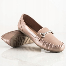Queentina Elegant Loafers With Cubic Zirconia beige 1