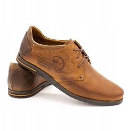 Polbut Men's leather shoes 2103 camel brown 3