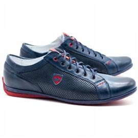 Joker Men's casual shoes 295 navy blue red 1