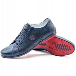 Joker Men's casual shoes 295 navy blue red 2